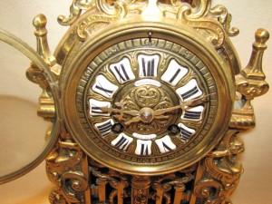 Theodore B Starr Brass Clock $675.00
