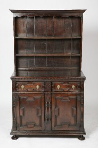 18-Century English Plate Dresser 16-Century Elements from Swift Estate $3475.00