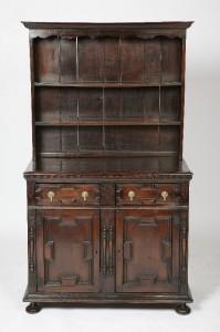 18-Century English Plate Dresser 16-Century Elements from Swift Estate $3475.00