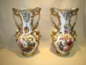 Old Paris Hand Painted Vases Large $3450.00