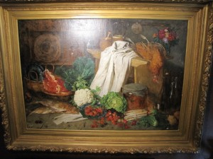 Monumental 80 x 60 Still Life by August Jernberg 1873 $10,450.00