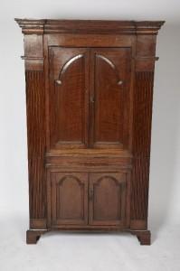 18-Century Oak Corner Cupboard $9850.00