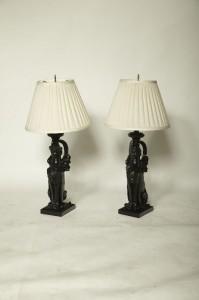 PR Bronze Empire Lamps $3450.00