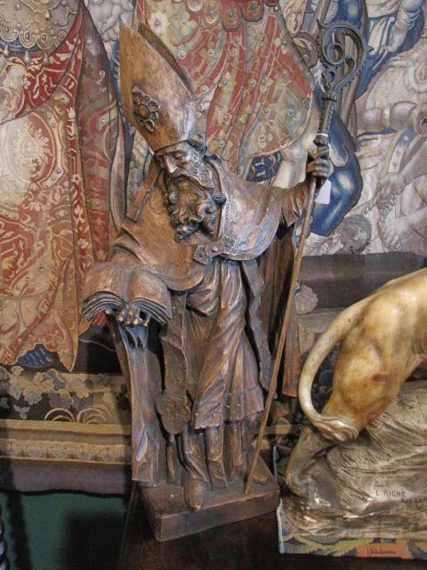 Circa 18th Century Wood Carved Bishop $1450.00
