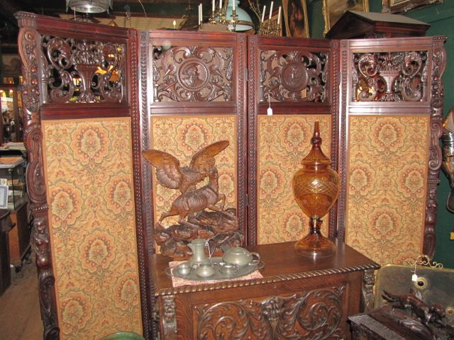 Large Carved Folding Screen $5500.00