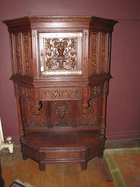 Gothic Oak Court Cupboard $1250.00