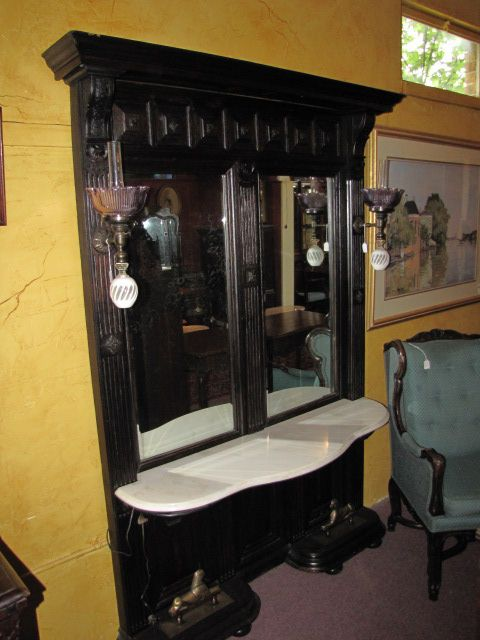 Pier Mirror with Lights, Marble Top $1250.00