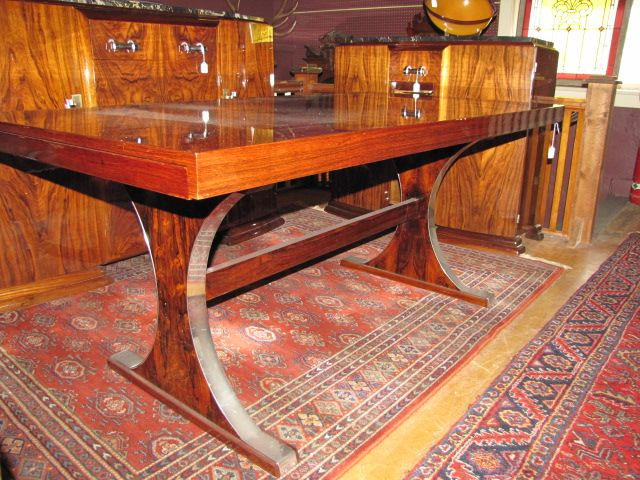 Art Deco Library Table $4250.00