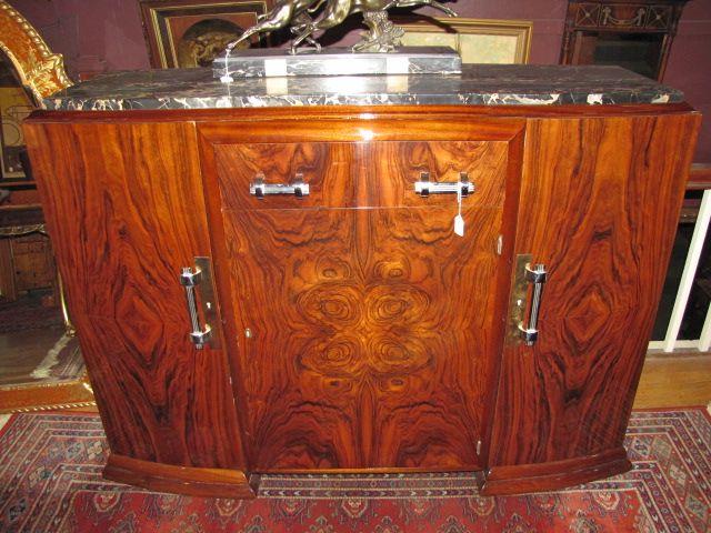 Art Deco Marble Top Sideboard $3850.00