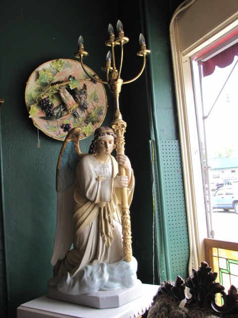 Large Angel Light Stand with Pedestal $275.00